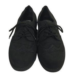 Scott David Boys Size1 Black Shoes